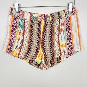 Pants - DEJAVU Boho Woven Aztec Tribal Shorts M Festival